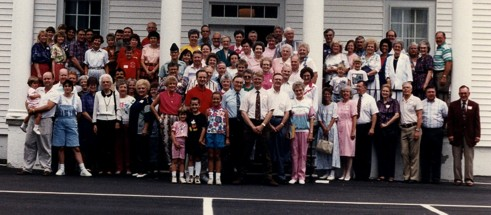 1992 Reunion photo in front of the Padgett Creek Baptist Church